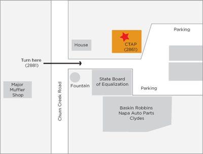 Redding Service Center Map